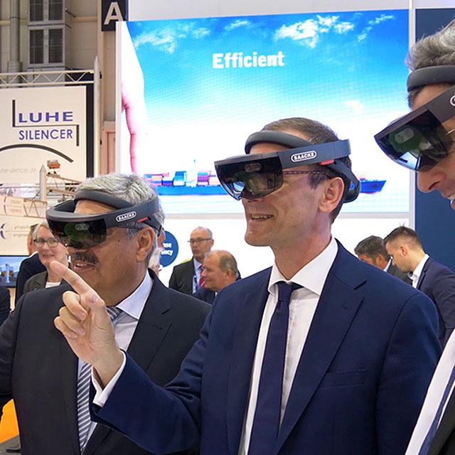 Mixed Reality überzeugt Bremens Wirtschaftssenator Martin Günthner