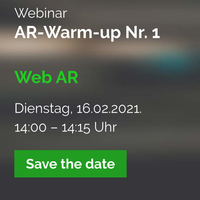 AR-Webinare für Marketing und Vertrieb